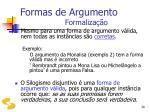 formas de argumento formaliza o30