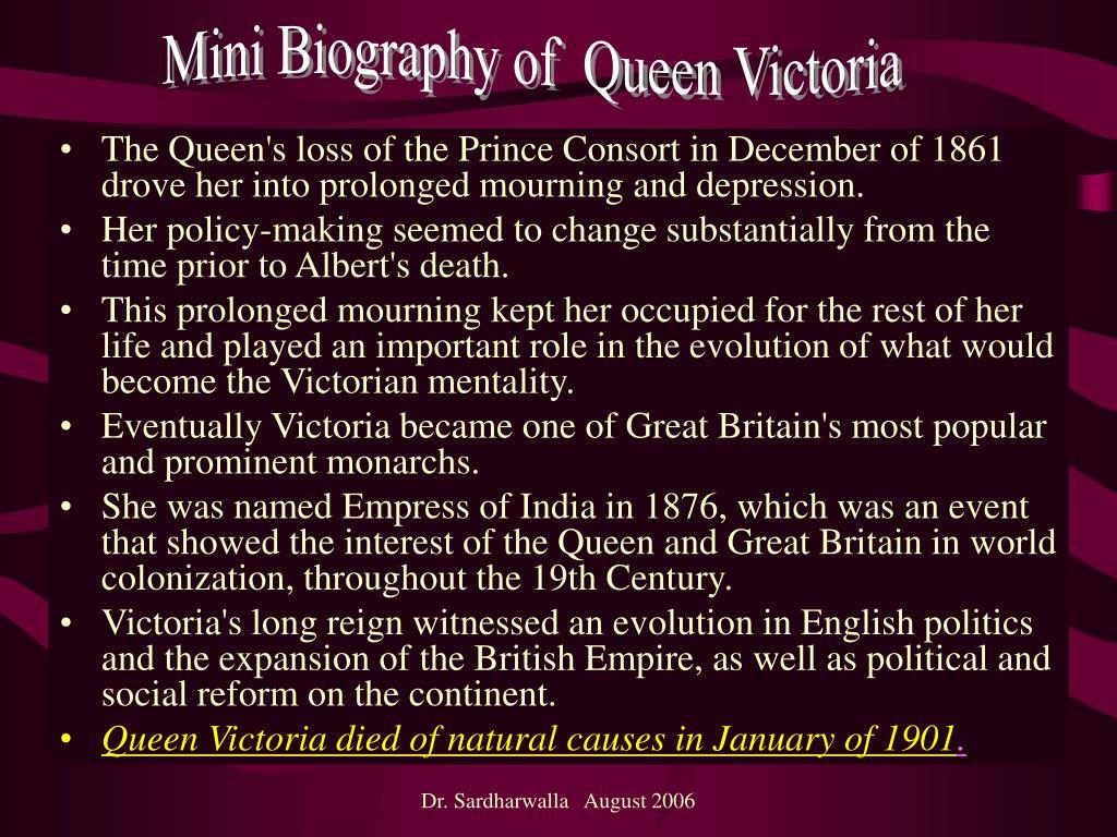 Mini Biography of  Queen Victoria