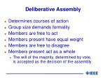 deliberative assembly