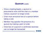 quorum cont