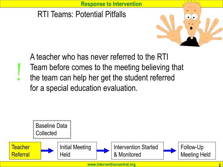 Rti teams potential pitfalls