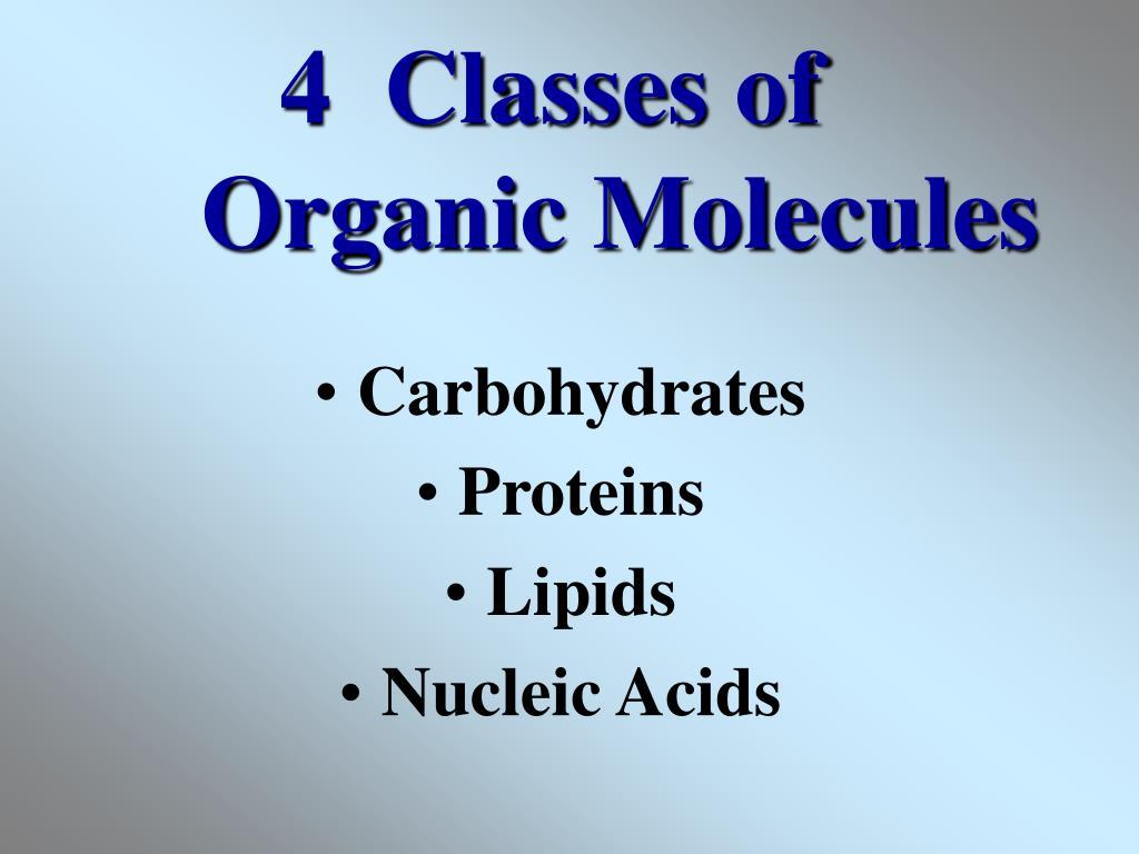 4  Classes of