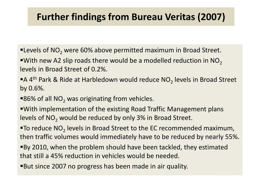 Further findings from Bureau