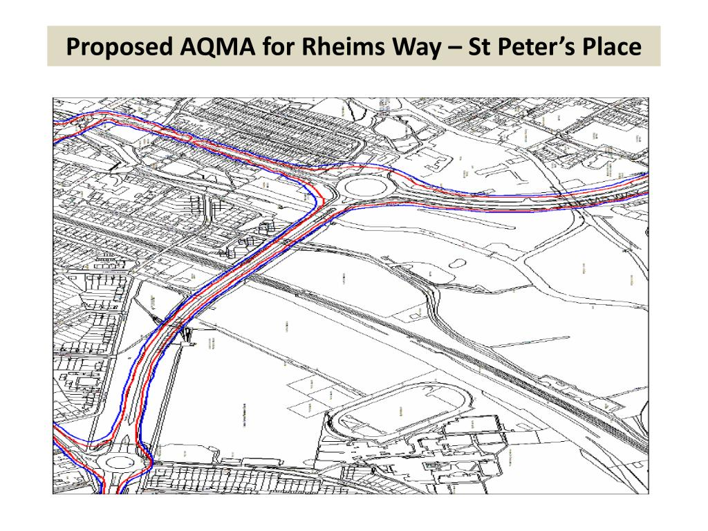 Proposed AQMA for Rheims Way – St Peter's Place