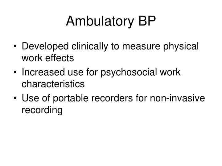 Ambulatory BP