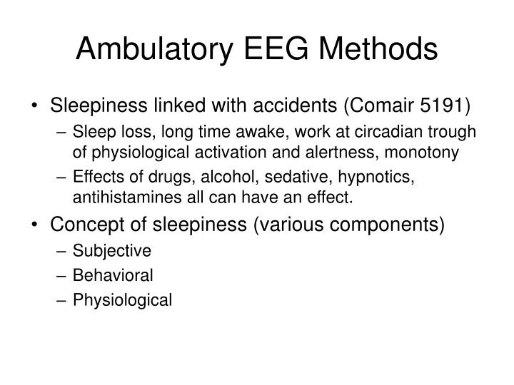 Ambulatory EEG Methods