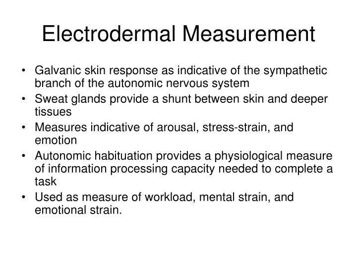 Electrodermal measurement