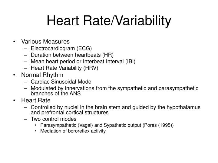 Heart Rate/Variability