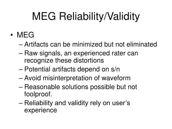 MEG Reliability/Validity