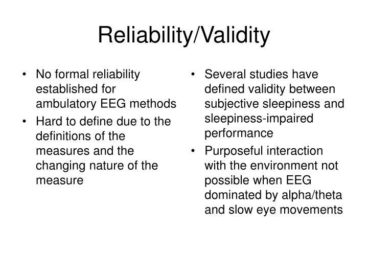 No formal reliability established for ambulatory EEG methods
