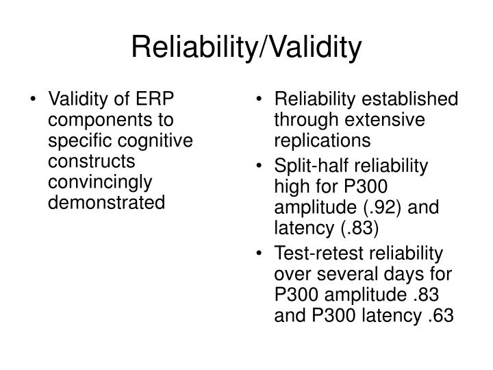 Validity of ERP components to specific cognitive constructs convincingly demonstrated
