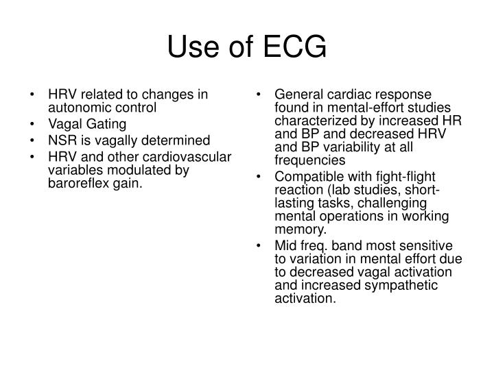 HRV related to changes in autonomic control