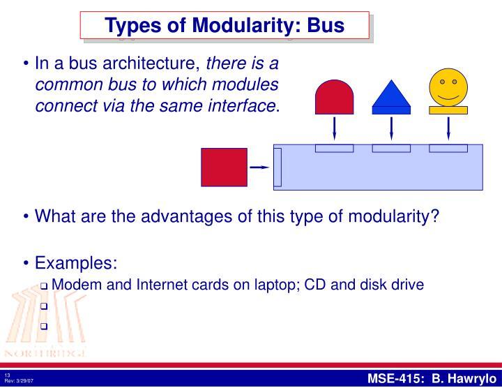 Types of Modularity: Bus