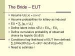 the bride eut