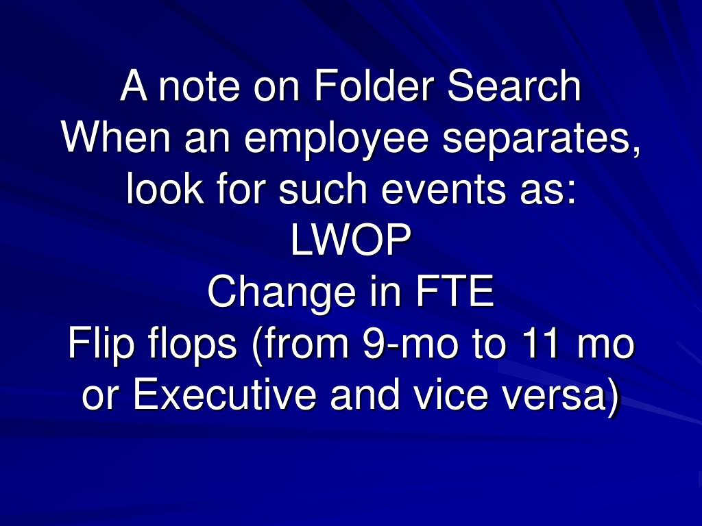 A note on Folder Search