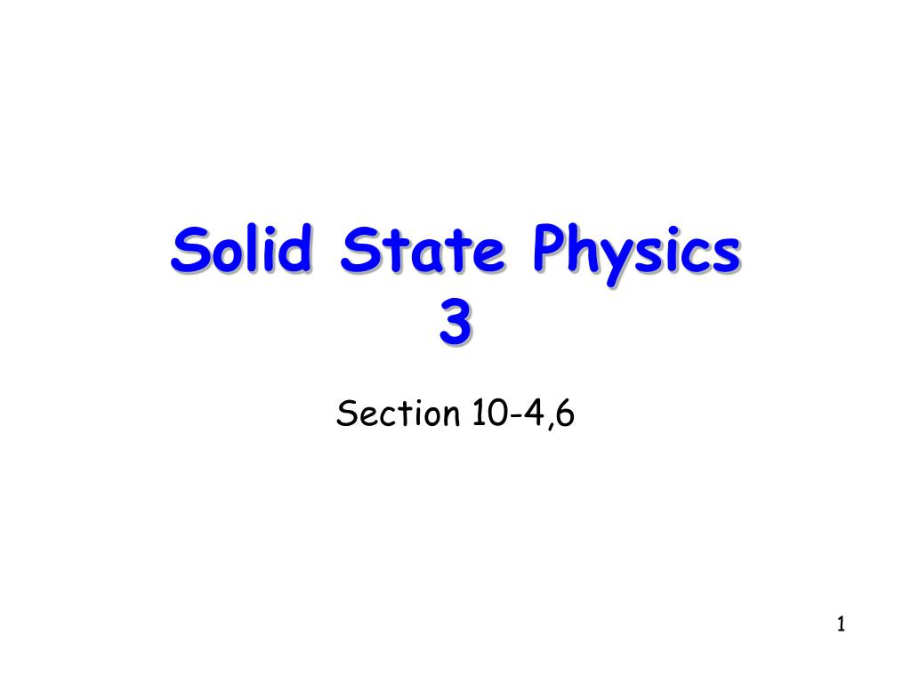 solid state physics 3 l.
