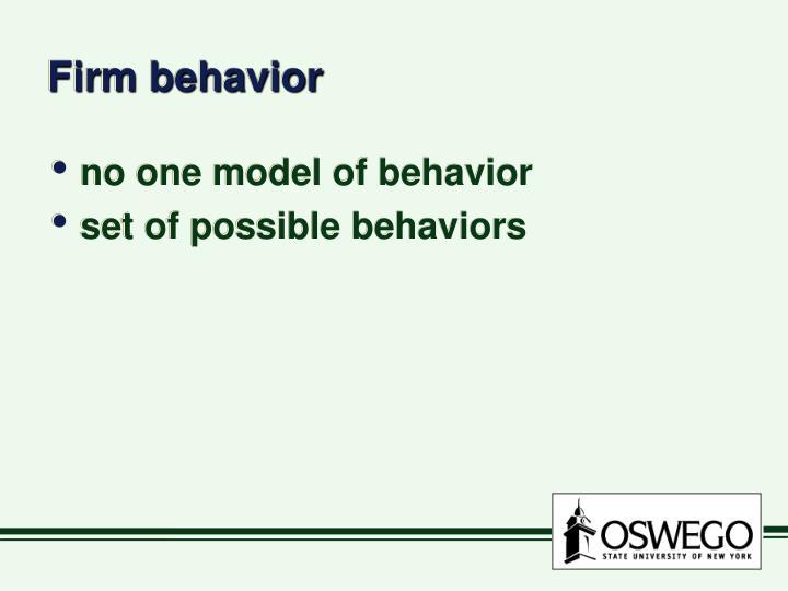 Firm behavior