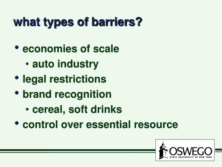 what types of barriers?