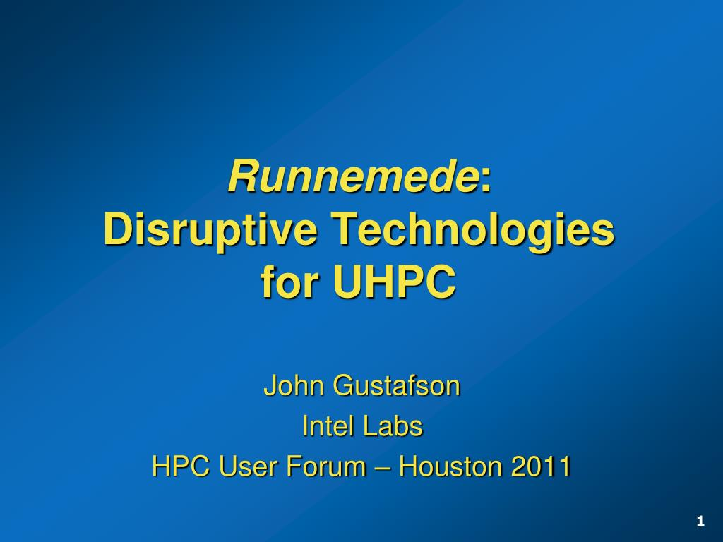 runnemede disruptive technologies for uhpc