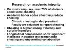 research on academic integrity