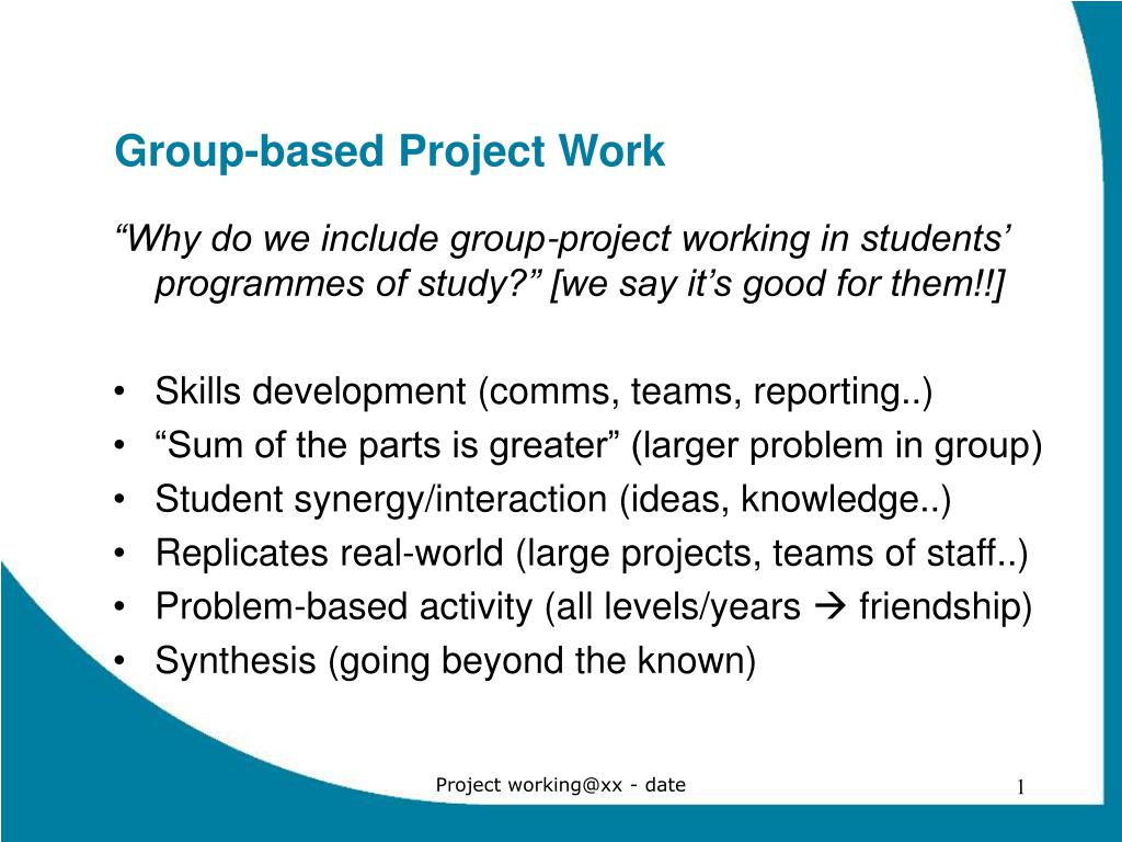 group based project work l.