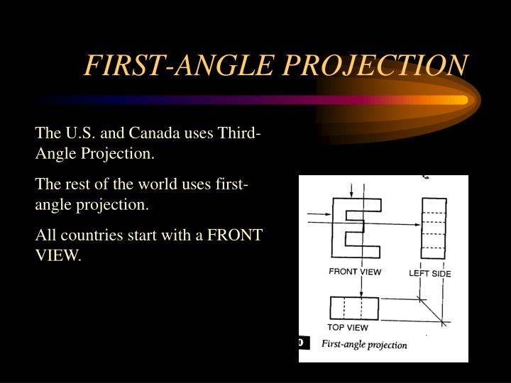 First angle projection