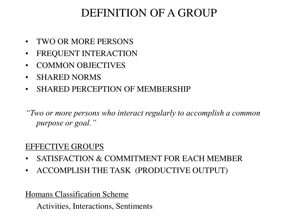 definition of a group l.