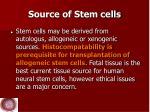 source of stem cells