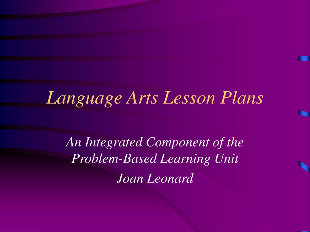 language arts lesson plans l.