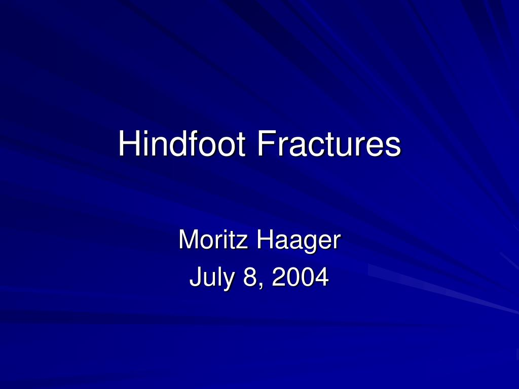 hindfoot fractures l.