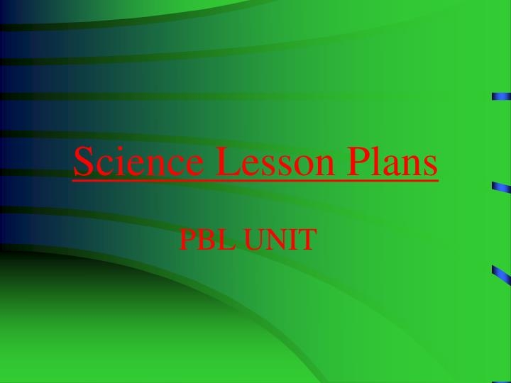 science lesson plans n.
