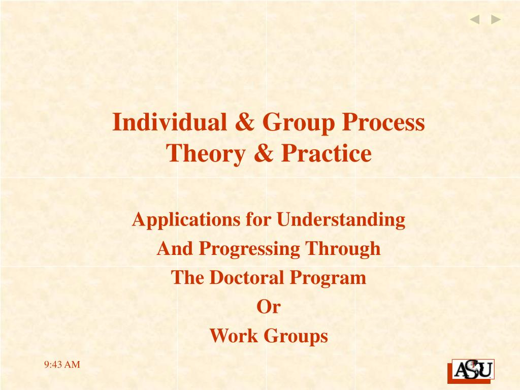 individual group process theory practice l.