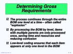 determining gross requirements33
