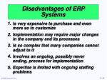 disadvantages of erp systems