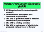 master production schedule mps14