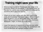 training might save your life