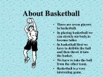 about basketball