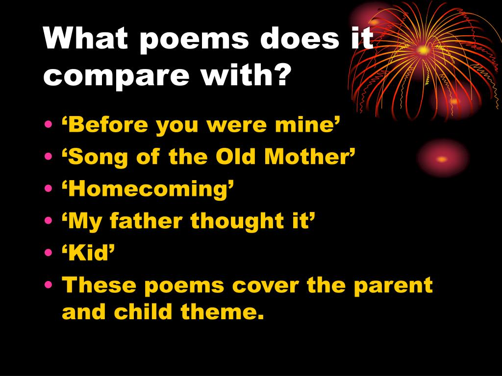 What poems does it compare with?