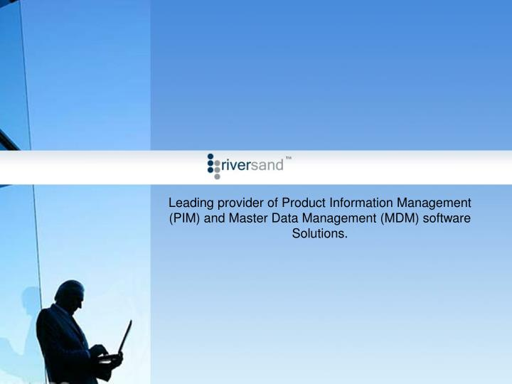 Leading provider of Product Information Management (PIM) and Master Data Management (MDM) software S...