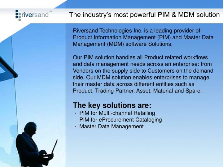 The industry's most powerful PIM & MDM solution