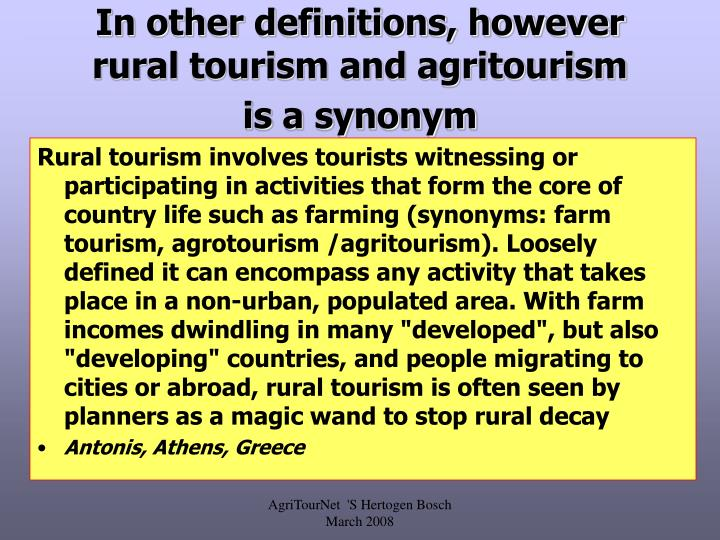 Ppt Definition Of Agritourism Powerpoint Presentation Id443227