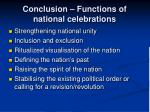 conclusion functions of national celebrations