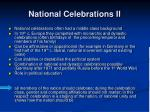 national celebrations ii