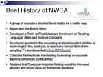 brief history of nwea