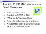 tool 1 pusd map site to share great resources