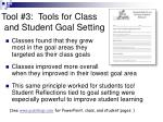 tool 3 tools for class and student goal setting