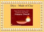 diya made of clay
