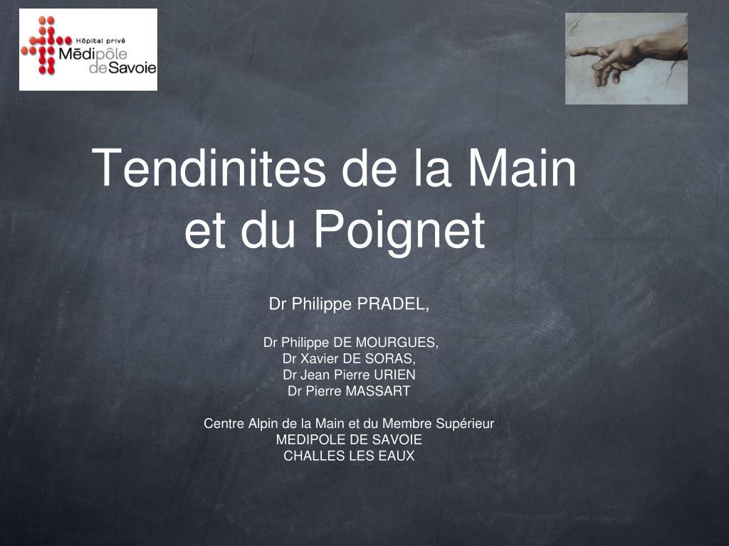 PPT - Tendinites de la Main et du Poignet PowerPoint Presentation ...