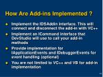 how are add ins implemented
