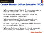 current warrant officer education woe